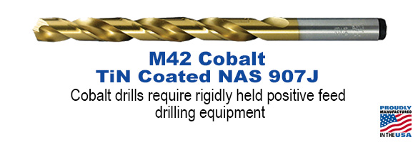 M42 TiN Coated NAS 907B